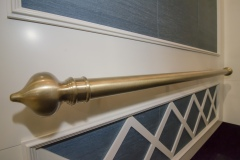 Satin Muntz Tubular with Finial Ends